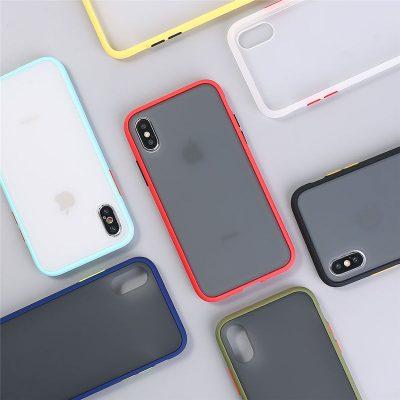 Armor iPhone XR Transparent Matte Case Casing 1